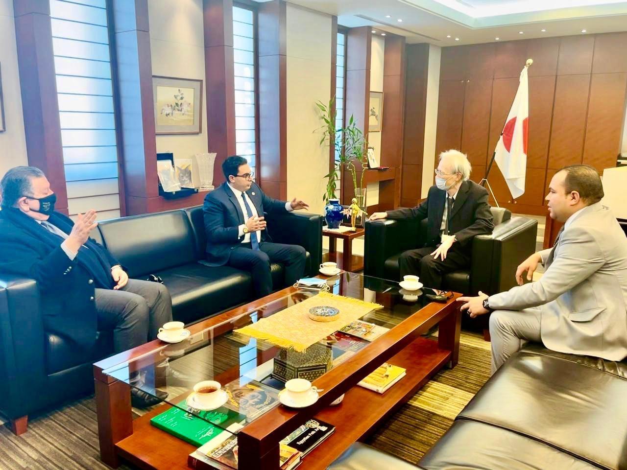 سفير اليابان لرئيس حزب المؤتمر: نتطلع لتوسيع أوجه التعاون مع مصر