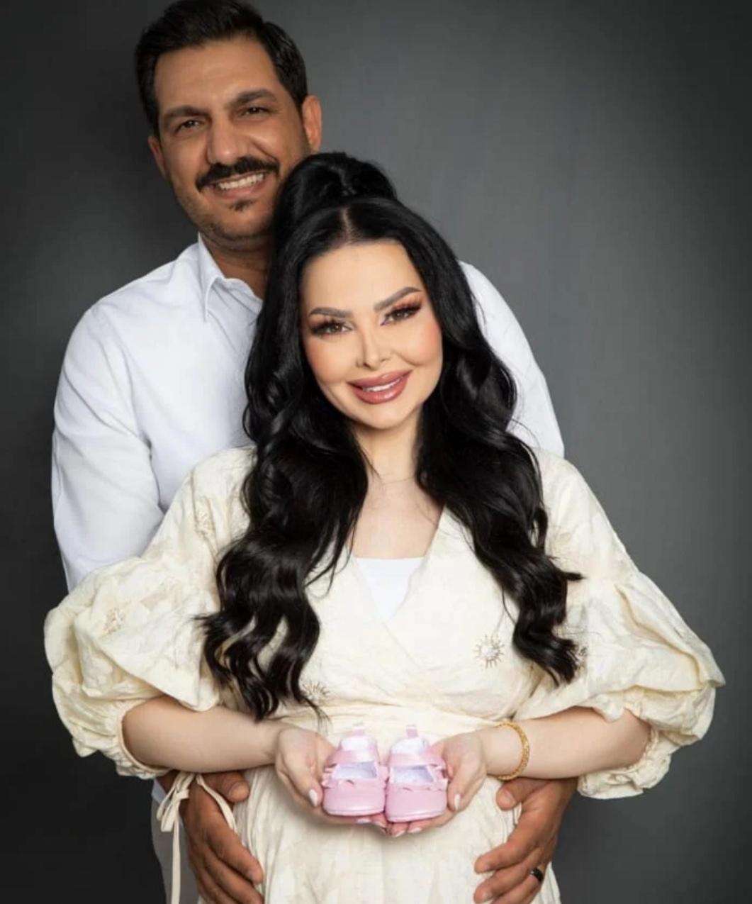 ديانا كرزون تستقبل مولودتها الأولى وزوجها معاذ العمري يعلن الخبر
