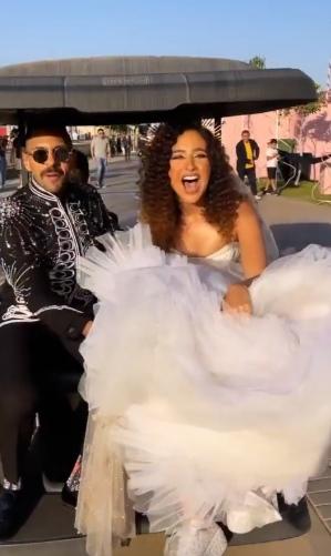 فى خطوة مفاجئة زواج الممثل حسين أبو الروس من مصممة الجرافيك العالمية غادة والى