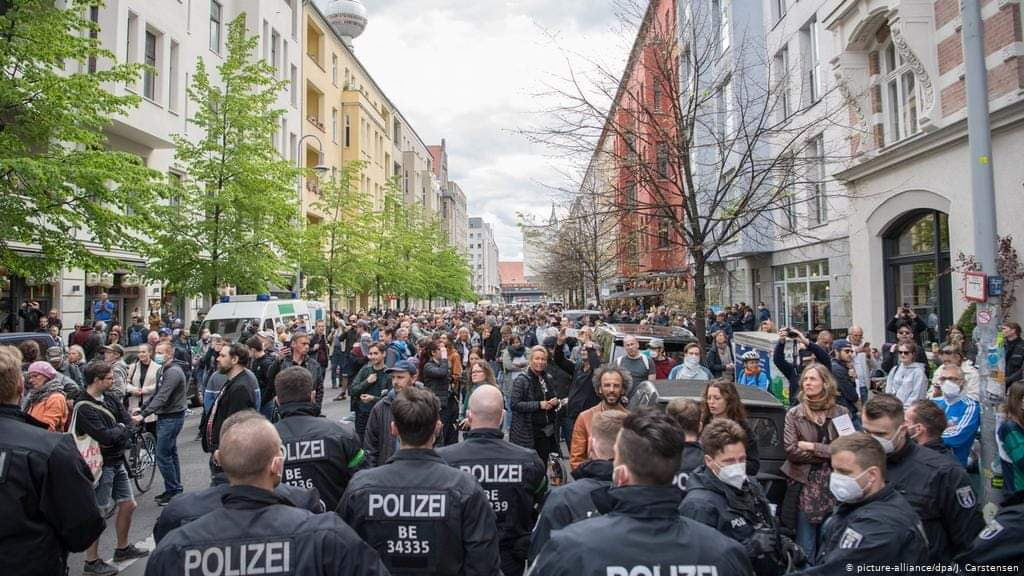 مظاهرات الألمانين تضامنََا مع فلسطين