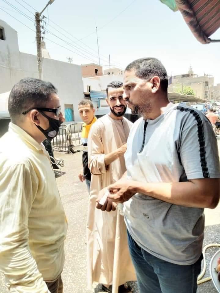 حملة نظافة ورفع الإشغالات بمدينة اخميم