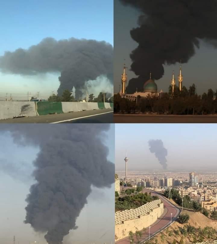حريق في خط الغاز الطبيعي المسال بمصفاة تندكويان في طهران