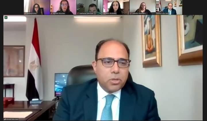 سفير مصر في كندا يلقي محاضرة حول محددات وأولويات الأمن القومي المصري بجامعة أوتاوا