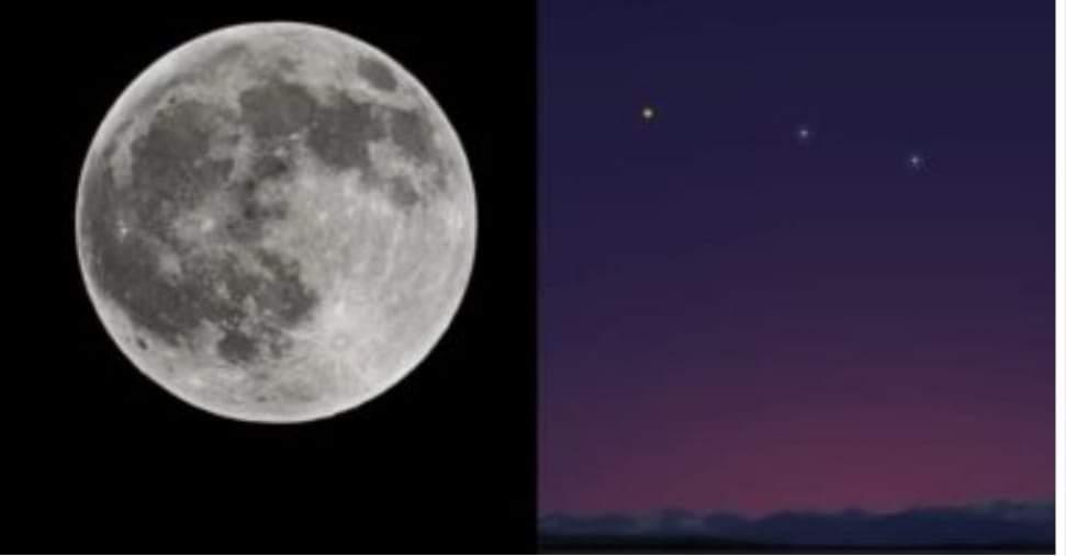 إنسجام كوكب الزهرة مع نجم كاستور وبولوكس بسماء القاهرة.