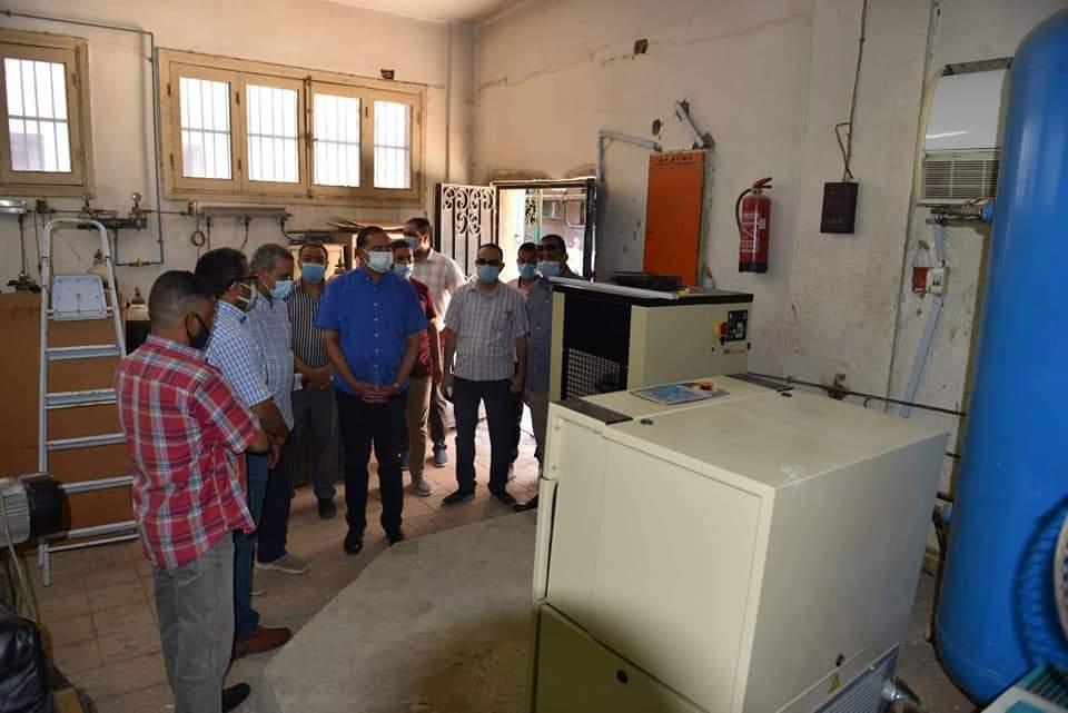 بتكلفة ٢٣ مليون و ٧٥٠ ألف جنيه تطوير وحدة الغسيل الكلوي ومحطة الغازات الطبية بمستشفى سوهاج الجامعي