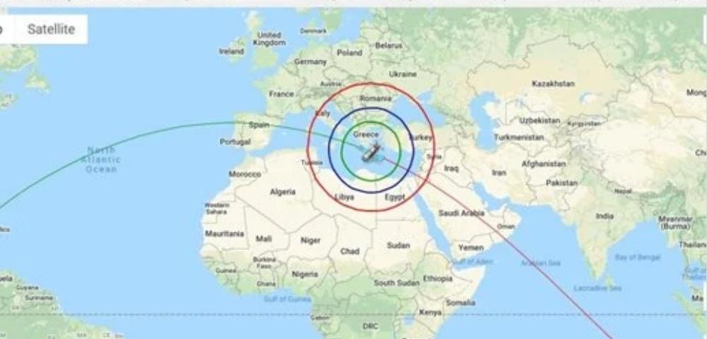 عاجل ٠٠ الفترة المحتملة لسقوط حطام الصاروخ الصيني بدأت الان في السعودية والشام