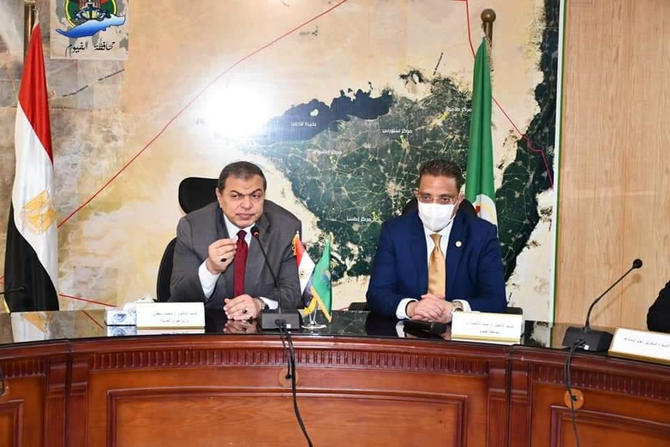 وزير القوى العاملة ومحافظ الفيوم يلتقيان العائدين من الخارج لمناقشة تمويل مشروعاتهم ضمن مبادرة