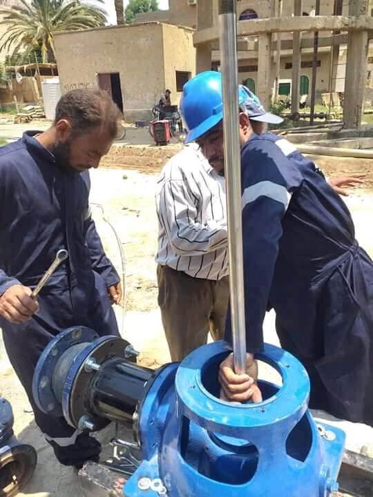 بتكلفة ١.٢ مليون جنيه تشغيل بئري مياه ارتوازي بقرية أولاد الشيخ بمركز دار السلام بسوهاج