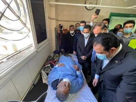 رشاد وأبوالعينين وعابد يتابعون مستجدات حادث القطار بسوهاج ويجتمعون بالمحافظ