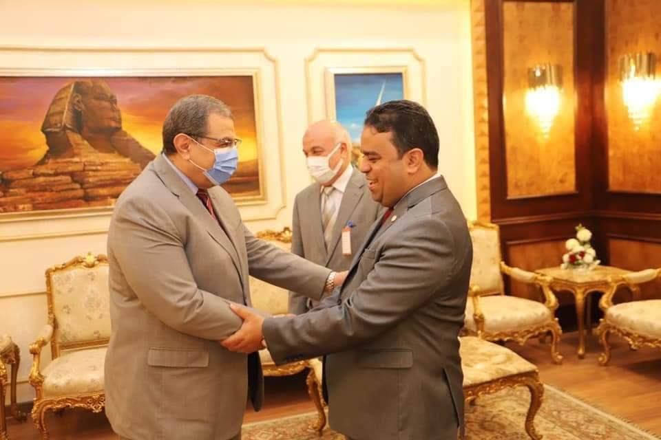 سعفان يستقبل وزير العمل الليبي  لبحث آليات جذب العمالة المصرية للعمل في إعمار الدولة الليبية