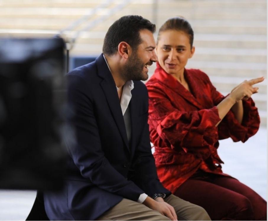 عمرو يوسف يشارك متابعية كواليس مسلسله الجديد برفقة نيللي كريم